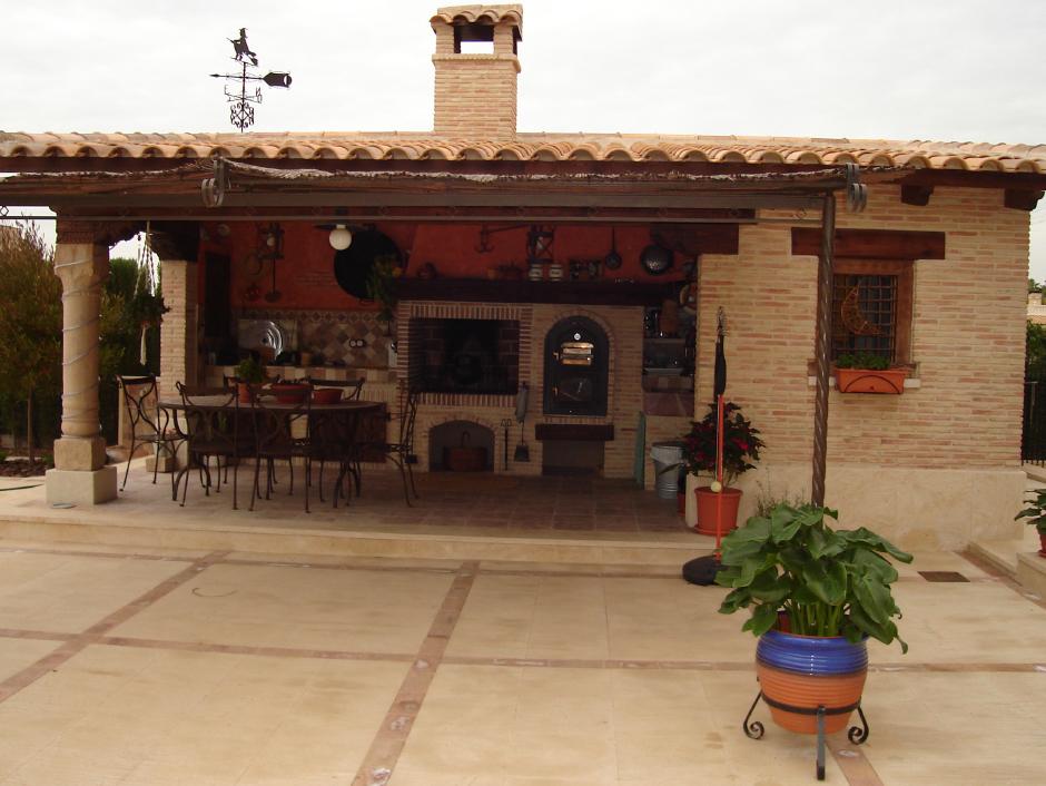 Chimeneas rusticas ladrillo construccion planos de casas chimeneas para exteriores chimeneas - Chimeneas de barro ...