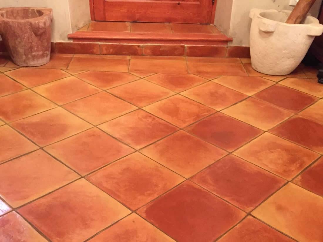 Baldosas cuadradas baldosas de barro cocido suelos de - Baldosas de terracota ...