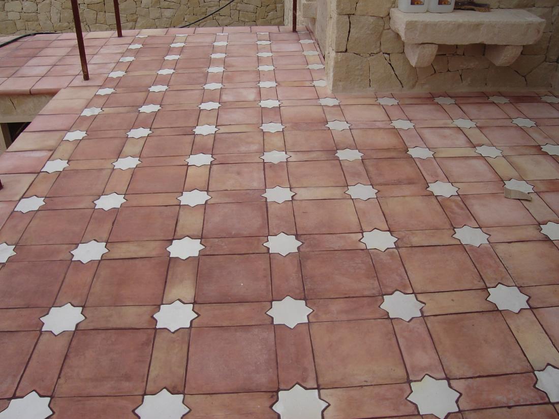 Ceramica blas aleman ladrillo artesano baldosas terracota suelos de barro ceramica blas - Baldosas de hormigon para jardin ...