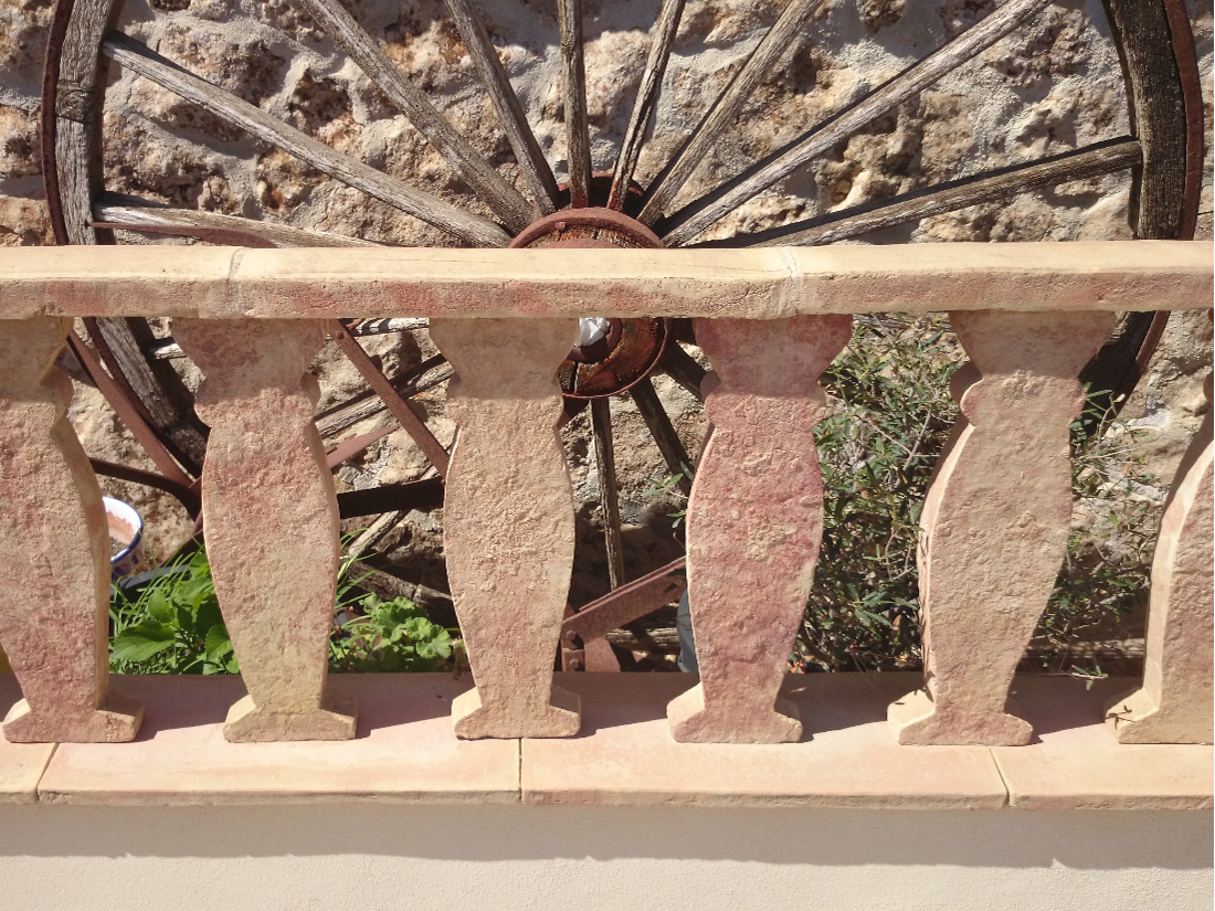 Balustrada y pasamanos baldosa de barro cocido ladrillo for Baldosas de barro cocido