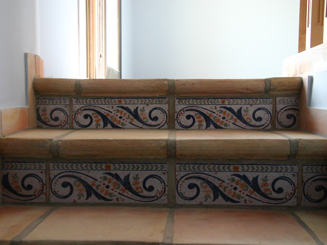 Ceramica blas aleman ladrillo artesano baldosas for Baldosas para escaleras
